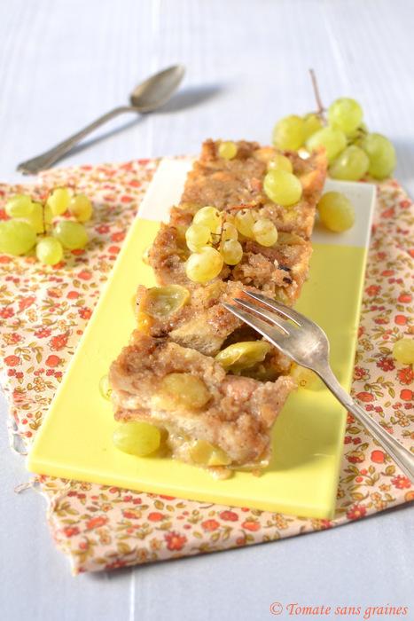 Pudding au raisin blanc