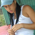 Andrea Rincon, Selena Spice Galeria 33: Gorra Azul, Cachetero Azul Foto 35