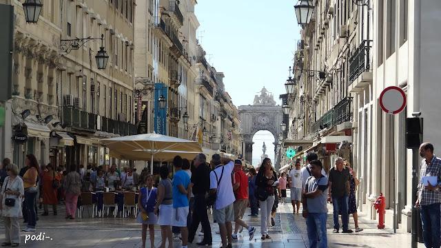 lisboa lisbona rua augusta arco triunfal orologio