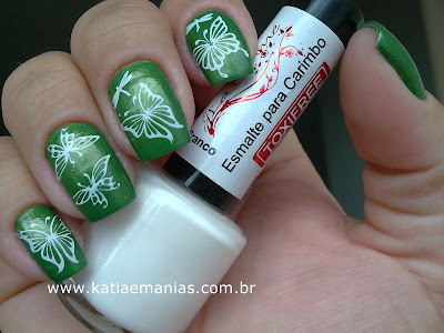 Born Pretty, La Femme, Look das Unhas, verde, carimbada,