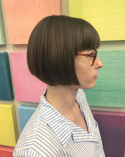 Modern Bob with bangs hairstyle