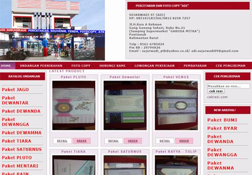 Salah satu blog berbentuk toko online yang saya garap sekarang ini sebagai bahan kajian dan pembelajaran