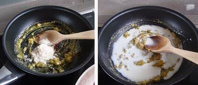 Elaboración de la salsa de queso