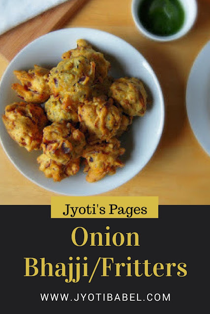 Onion Bhajjis are Indian savoury onion fritters made primarily with onion slices and chickpea flour. Check out my recipe for onion bhajji here.