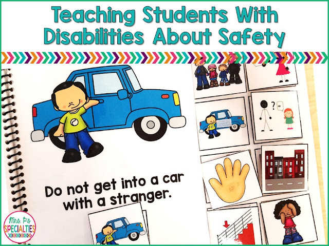 Teaching students about safety awareness and rules is crucial in students with disabilities. They need a high level of repetition in order to increase the likelihood they will use them independently. Here are some ideas to get your started.