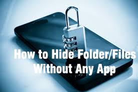Smartphone Me Folder/Files Hide Kaise Kare - How to hide folder or files on your Smartphone Without Any App