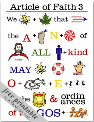 graphic regarding Articles of Faith Printable known as A Calendar year of FHE: Write-up of Religion No. 3