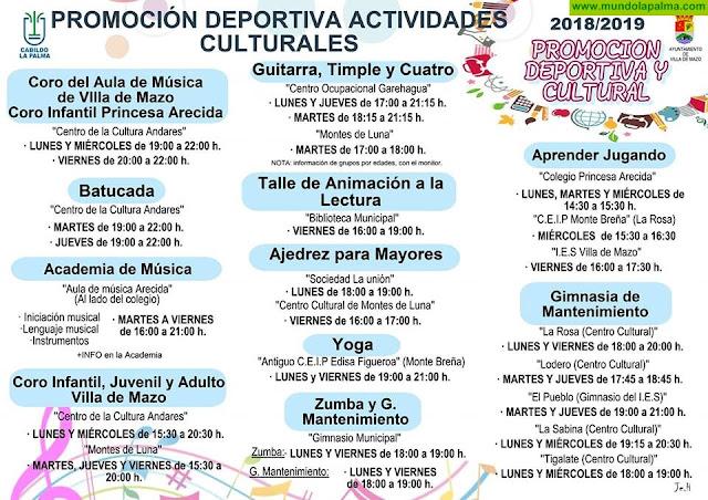 Villa de Mazo inicia en octubre un amplio programa de actividades culturales y deportivas