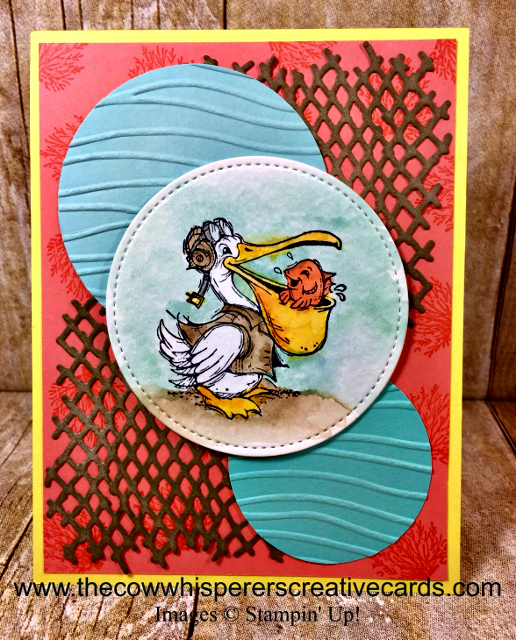 Card, Postcard Pals, Seaside Embossing Folder, Under the Sea Framelits