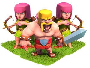 Cara Mendapatkan Gold dan Elixir Cepat dengan Barbarian + Archer