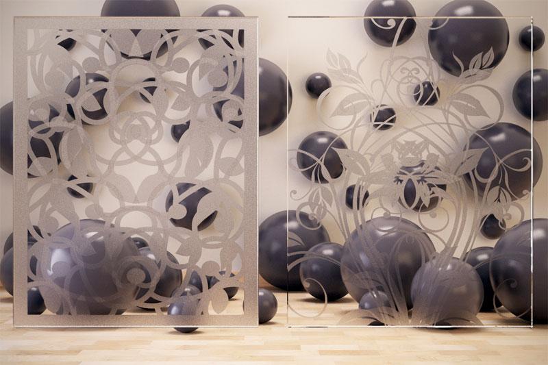 Problema serigrafie vetro sovrapposte con Vray
