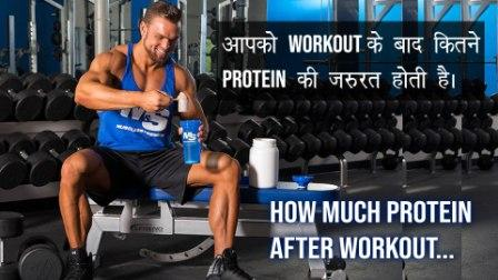 How much Protein to take after Workout ? Best Information