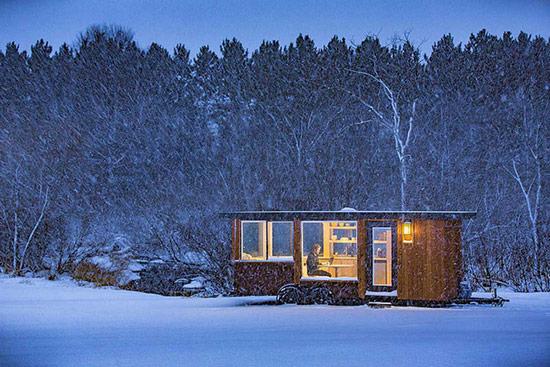 Ngôi nhà có thể di chuyển đến bất kỳ nơi nào chủ nhân muốn.