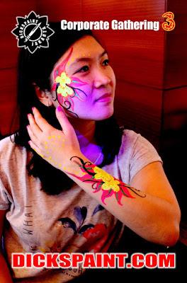 Body Painting UV Glow Jakarta