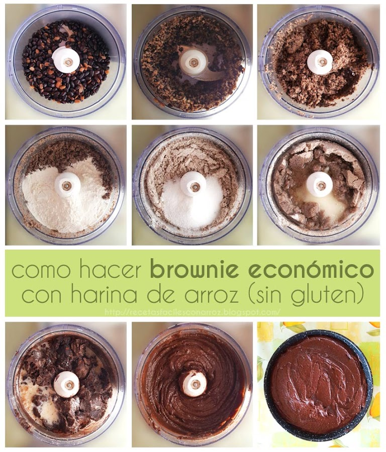 brownie sin gluten sin lactosa