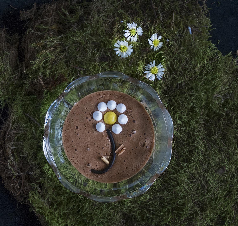 Heerlijke chocolade mousse met zout & peper