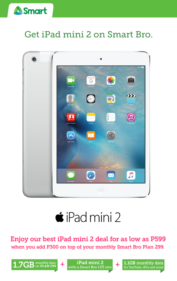 SMART Bro bares best deal for iPad Mini 2 in Davao
