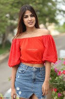 Rhea Chakraborty in Red Crop Top and Denim Shorts Spicy Pics ~  Exclusive 256.JPG