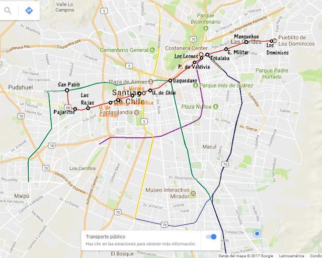 Todo De La Linea 1 Metro De Santiago