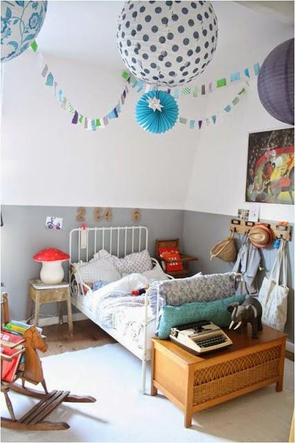 habitación vintage para niña