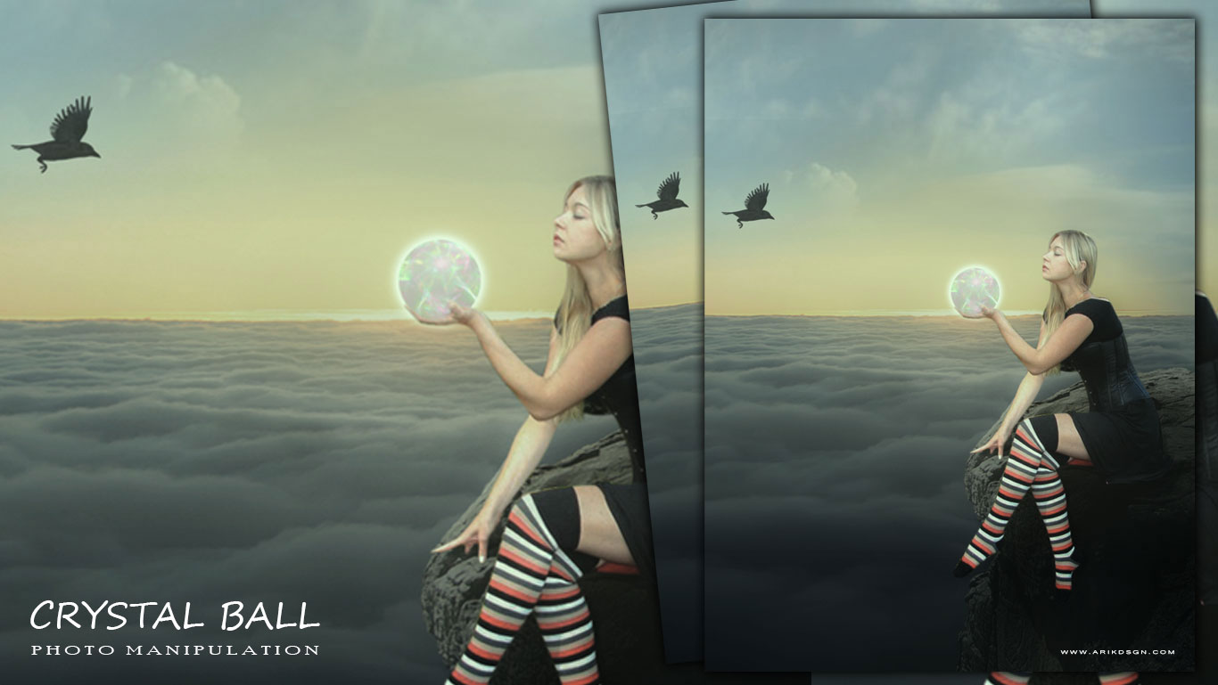 Stupendous Crystal Ball Photo Manipulation Photoshop Tutorial Arikdsgn Short Hairstyles Gunalazisus