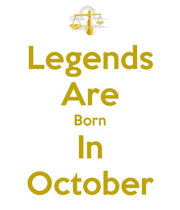born in october