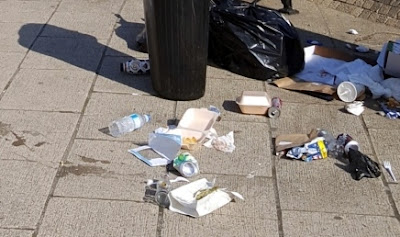 Litter in Brigg town centre 2018 - see Nigel Fisher's Brigg Blog