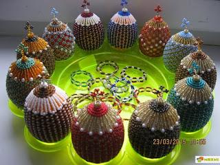 Яйца из бисера на пасху