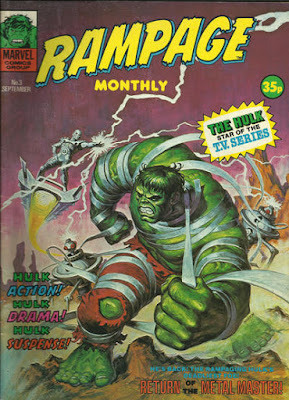 Rampage Monthly #3, the Hulk vs Metal Master