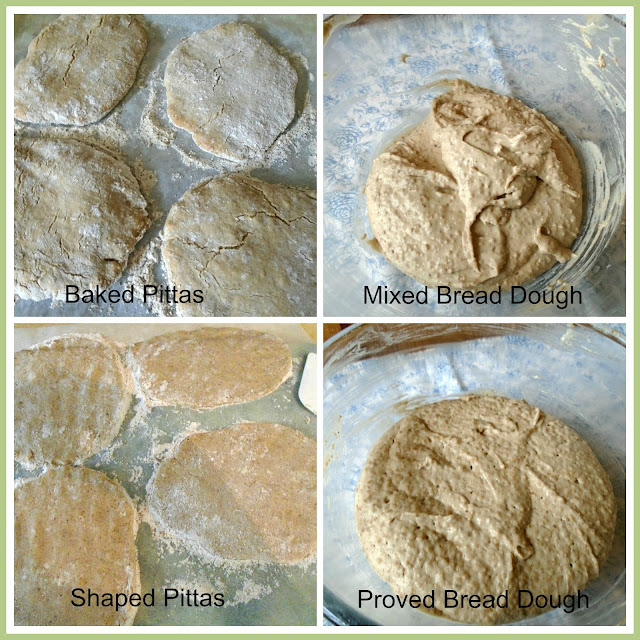 Gluten Free Brown Pitta Breads - in the making