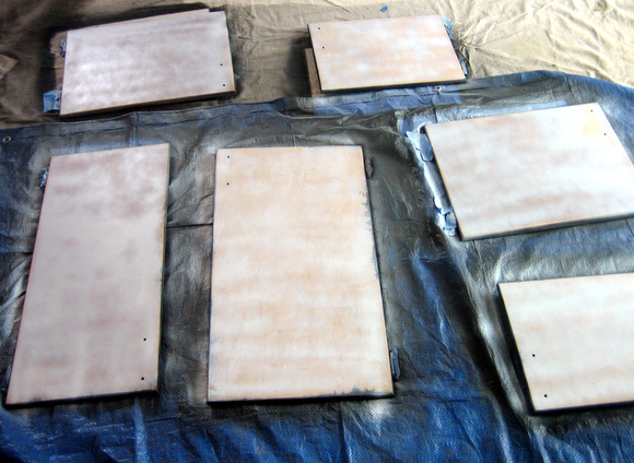 Sand and Prime: Recycled Cabinet Doors | DIY Playbook