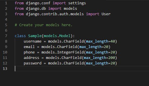 Django talk: ModuleNotFoundError: No module named 'sample,'