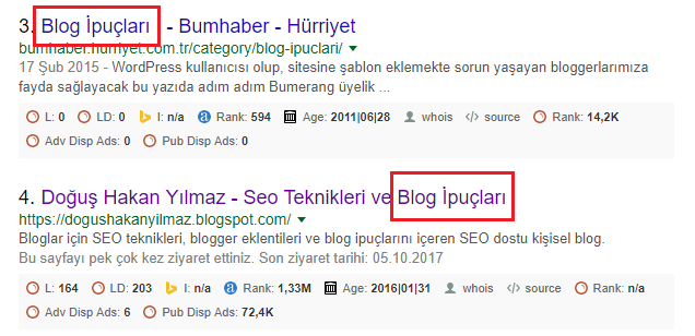 google-arama-operatörü