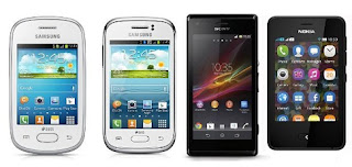 HomeShop18 Super Deal  on Mobile Phones (Samsung Galaxy Star S5282 | Samsung Galaxy Young S6312 | Sony Xperia M Android Mobile | Nokia Asha 501 Mobile)