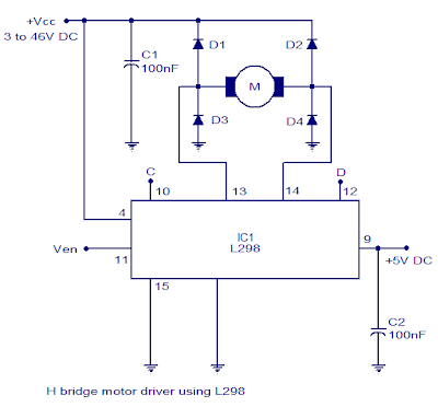 L298 H Bridge Circuit Diagram Dodge Wiring Ram 2500 Motor Driver Manual E Books Controller Diagramcircuit 14
