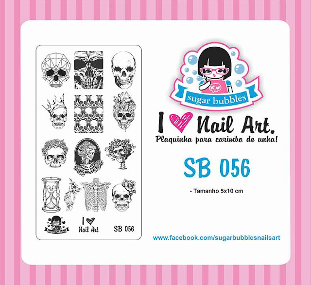 Lacquer Lockdown - Halloween, halloween nail art, halloween nail art stamping plates, nail art, nail art stamping ideas, holiday nail art, stamping plates, advanced skulls, skulls and crowns, skeletons, thorax, anatomical hearts,  skulls and hearts, Sugar Bubbles