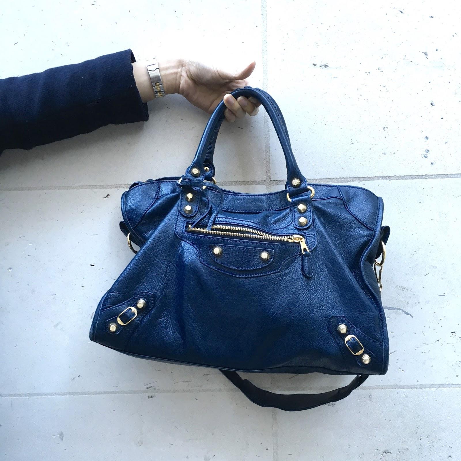 Balenciaga Classic City Bag Navy