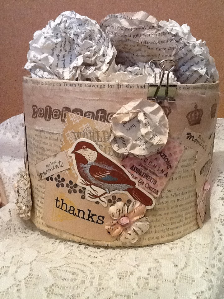 The Altered Book Playground: Weekend Project: shabby chic