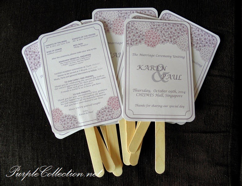 program fan sticker bookmark for wedding