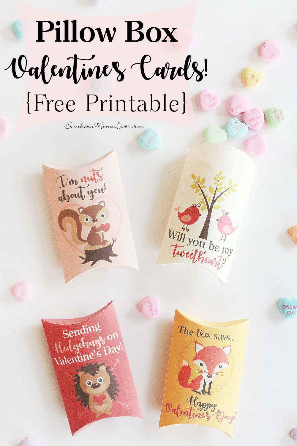southern mom loves: pillow box valentine's cards! {free printable}