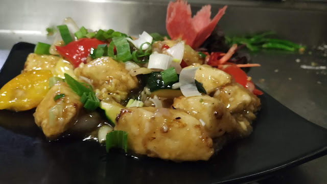 Ginger honey paneer in garnished plate food Recipe Dinner ideas