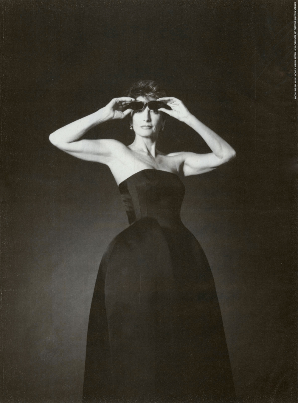 Mila Schon 1996-1997 campaign photographed by Melina Mulas