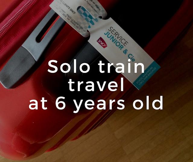 Solo train travel as a child