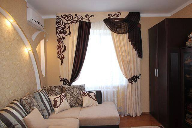 Awesome Modern Pale Brown Curtain Design