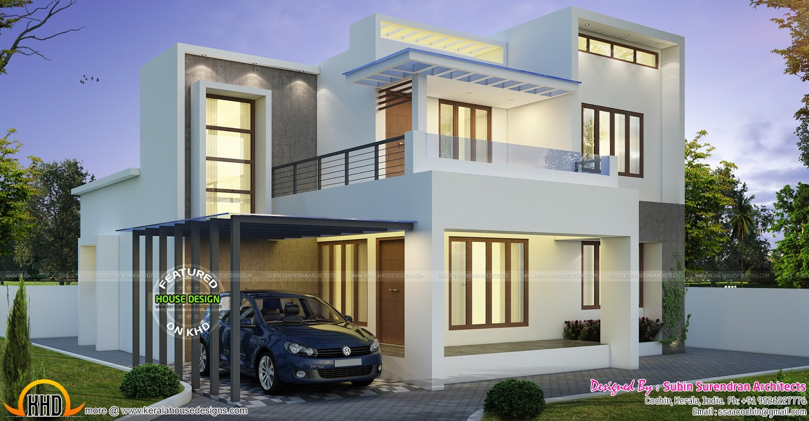 Contemporary 3 bhk 1700 sq ft house kerala home design for 1700 feet to meters