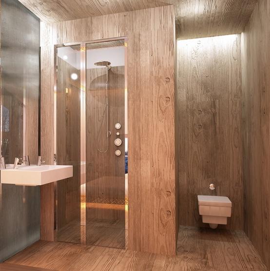 Desain kamar mandi rumah kayu  Desain Kamar Mandi