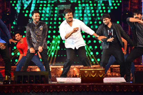 Highlights Megastar Chiranjeevi  dance stage perfomence at CineMAA Awards