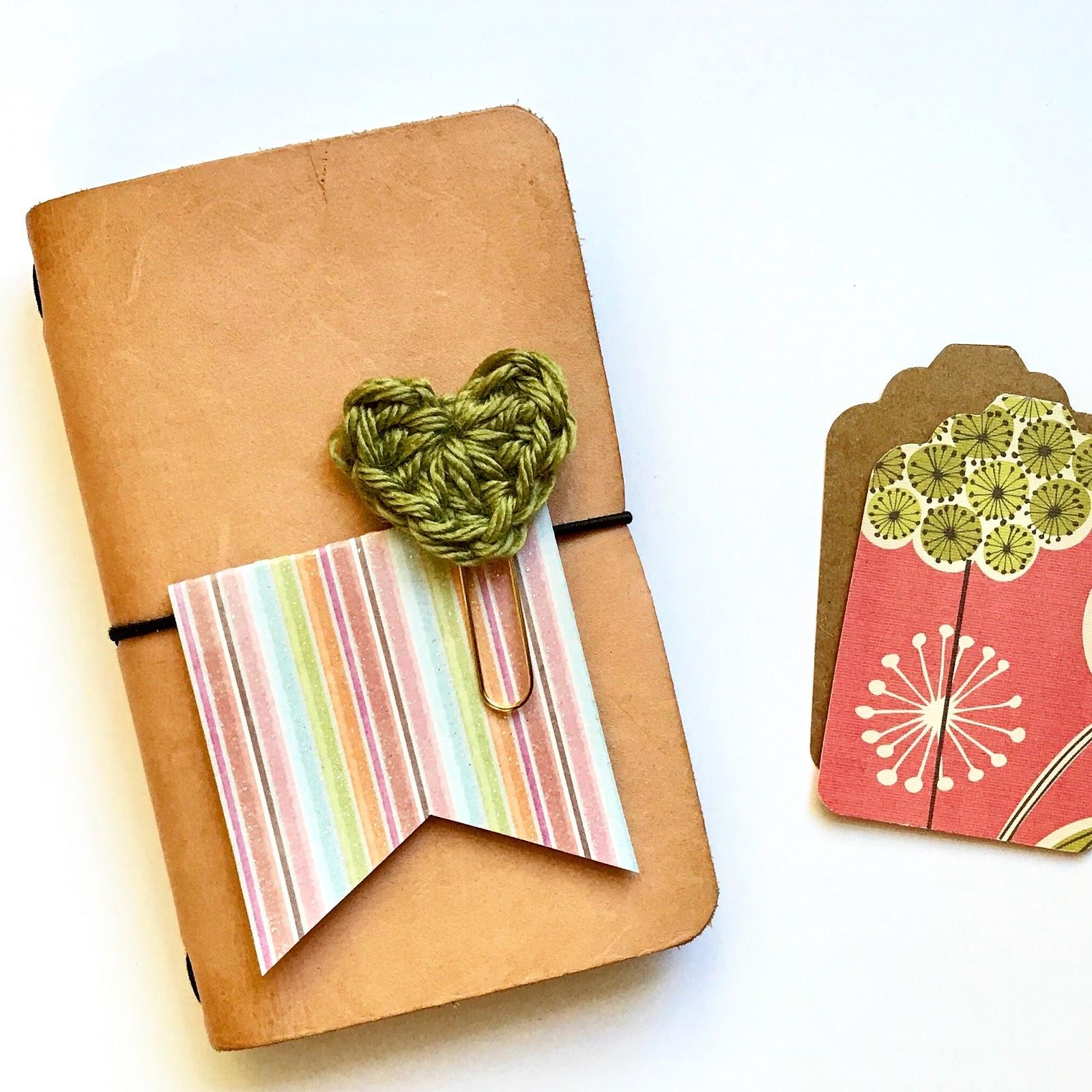 #crochet #heart #paper #clips #planner #supplies #field #notes