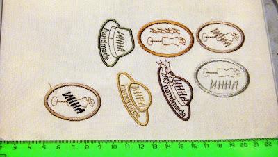 Бирки этикетки хэндмейд handmade - вышитые бирки на изделия