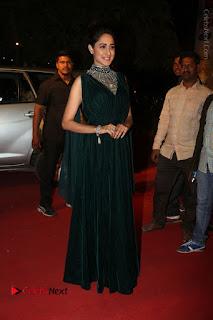 Actress Pragya Jaiswal Stills in Green Long Dress at Gemini TV Puraskaralu 2016 Event  0081.JPG